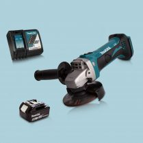Makita DGA452Z 18V Cordless 115mm Angle Grinder & 1 x 5.0Ah Battery Charger