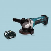 Makita DGA452Z 18V LXT Li Cordless 115mm Angle Grinder & 1 x 3.0Ah Battery