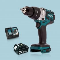 Toptopdeal Makita DHP481Z 18V Cordless BL Combi Hammer Drill 1 x 3Ah Battery Charger