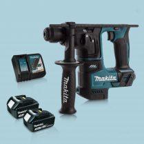 Toptopdeal Makita DHR171Z 18V SDS+ BL 17mm R.Hammer Drill & 2 x 3.0Ah Battery Charger