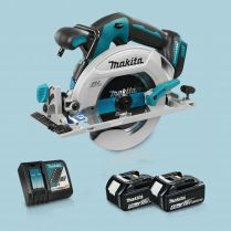 Toptopdeal MAKITA DHS680Z 18V LXT BL 165mm Circular Saw & 2 x 5.0Ah Battery Charger
