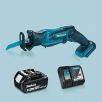 Toptopdeal-MAKITA-DJR185Z-18V-LXT-Mini-Reciprocating-Saw-&-1-x-5-0Ah-Battery-Charger