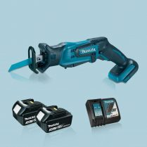 Toptopdeal-MAKITA-DJR185Z-18V-LXT-Mini-Reciprocating-Saw-&-2-x-3-0Ah-Battery-Charger