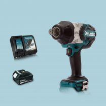 Toptopdeal MAKITA DTW1001Z 18V Brushless 34″ Impact Wrench & 1 x 3.Ah Battery Charger
