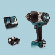 Toptopdeal MAKITA DTW1001Z 18V Brushless 34″ Impact Wrench & 1 x 5.Ah Battery Charger