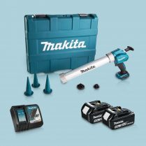 Toptopdeal-Makita DCG180ZBK 18V Caulking Gun & 2 x 5 Ah Battery Charger in Carry Case