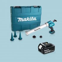 Toptopdeal-Makita DCG180ZBK 18V LXT Caulking Gun & 1 x 5 Ah Battery in Carry Case