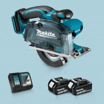 Toptopdeal Makita DCS552Z 18V 136mm Cordless Metal Cut Saw & 2 x 3 Ah Battery Charger