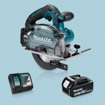 Toptopdeal Makita DCS553Z 18V BL 150mm Metal Cutting Saw & 1 x 5.0Ah Battery Charger