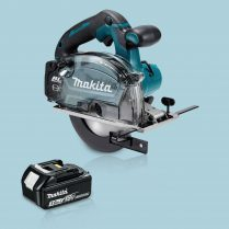 Toptopdeal Makita DCS553Z 18V BL 150mm Metal Cutting Saw & 1 x 3.0Ah Battery Charger
