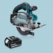 Toptopdeal Makita DCS553Z 18V Cordless BL 150mm Metal Cutting Saw & 1 x 5.Ah Battery
