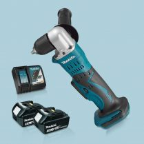Toptopdeal-Makita-DDA351Z-18V-LXT-10mm-Angle-Drill-Driver-&-2-x-3-0Ah-Battery-Charger