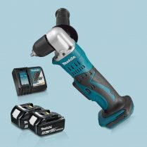 Toptopdeal-Makita-DDA351Z-18V-LXT-10mm-Angle-Drill-Driver-&-2-x-5-0Ah-Battery-Charger
