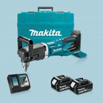 Toptopdeal Makita DDA460ZK 36V LXT BL Angle Drill & 2 x 5 Ah Battery Charger In Case