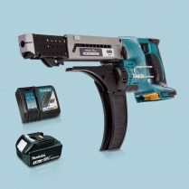Toptopdeal-Makita-DFR750Z-LXT-18V-75mm-Auto-Feed-Screwdriver-&-1-x-3Ah-Battery-Charger