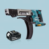 Toptopdeal-Makita-DFR750Z-LXT-18V-75mm-Auto-Feed-Screwdriver-&-1-x-5-0Ah-Battery
