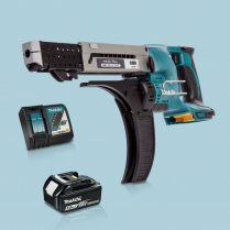 Toptopdeal-Makita-DFR750Z-LXT-18V-75mm-Auto-Feed-Screwdriver-&-1-x-5Ah-Battery-Charger