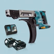 Toptopdeal-Makita-DFR750Z-LXT-18V-75mm-Auto-Feed-Screwdriver-&-2-x-3Ah-Battery-Charger