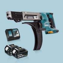 Toptopdeal-Makita-DFR750Z-LXT-18V-75mm-Auto-Feed-Screwdriver-&-2-x-5Ah-Battery-Charger