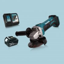 Toptopdeal Makita DGA452Z 18V Cordless 115mm Angle Grinder 1 x 5 Ah Battery Charger