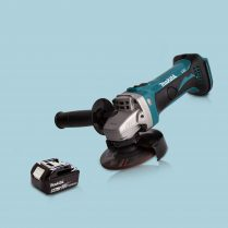 Toptopdeal Makita DGA452Z 18V LXT Li Cordless 115mm Angle Grinder 1 x 5 Ah Battery