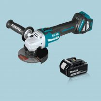 Toptopdeal Makita DGA513Z 18V LXT Cordless BL 125mm Angle Grinder & 1 x 3.0Ah Battery