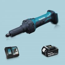 Toptopdeal-Makita DGD800Z 18V LXT Li Cordless Die Grinder & 1 x 3 Ah Battery Charger