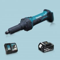 Toptopdeal-Makita DGD800Z 18V LXT Li Cordless Die Grinder & 1 x 5 Ah Battery Charger
