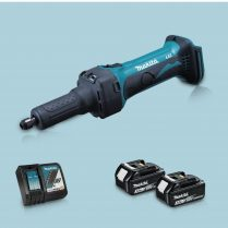 Toptopdeal-Makita DGD800Z 18V LXT Li Cordless Die Grinder & 2 x 3 Ah Battery Charger