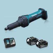 Toptopdeal-Makita DGD800Z 18V LXT Li Cordless Die Grinder & 2 x 5 Ah Battery Charger