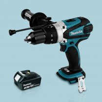 Toptopdeal Makita DHP458Z 18v Cordless 2 Speed Combi Drill Body 1 x 3 Ah Battery