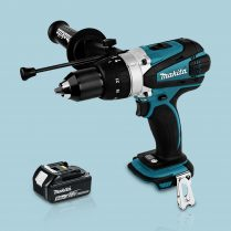 Toptopdeal Makita DHP458Z 18v Cordless 2 Speed Combi Drill Body & 1 x 5 Ah Battery