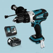 Toptopdeal-Makita DHP458Z 18v Cordless Combi Drill Body & 1 x 5 Ah Battery Charger