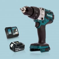 Toptopdeal Makita DHP481Z 18V Cordless BL Combi Hammer Drill & 1 x 5Ah Battery Charger