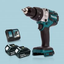 Toptopdeal Makita DHP481Z 18V Cordless BL Combi Hammer Drill & 2 x 3Ah Battery Charger