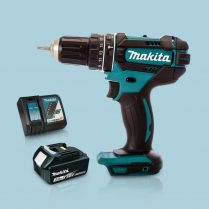 Toptopdeal Makita DHP482Z 18V Cordless 2 Speed Combi Drill & 1 x 3Ah Battery Charger