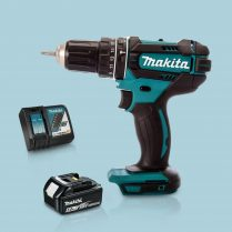 Toptopdeal Makita DHP482Z 18V Cordless 2 Speed Combi Drill & 1 x 5 Ah Battery Charger