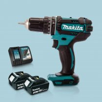 Toptopdeal Makita DHP482Z 18V Cordless 2 Speed Combi Drill & 2 x 3 Ah Battery Charger