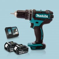 Toptopdeal Makita DHP482Z 18V Cordless 2 Speed Combi Drill & 2 x 5
