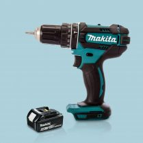 Toptopdeal Makita DHP482Z 18V LXT Cordless 2 Speed Combi Drill & 1 x 5 Ah Battery