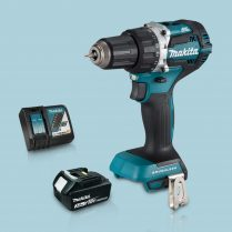 Toptopdeal Makita DHP484Z 18V Cordless BL Combi Hammer Drill & 1 x 3Ah Battery Charger