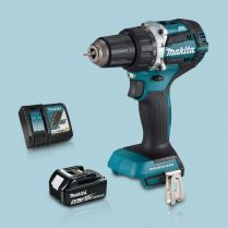Toptopdeal-Makita DHP484Z 18V Cordless BL Combi Hammer Drill & 1 x 5Ah Battery Charger