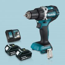Toptopdeal Makita DHP484Z 18V Cordless BL Combi Hammer Drill & 2 x 3Ah Battery Charger