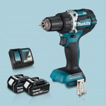 Toptopdeal Makita DHP484Z 18V Cordless BL Combi Hammer Drill & 2 x 5Ah Battery Charger