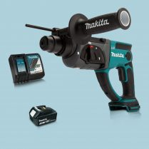 Toptopdeal Makita DHR202Z 18V LXT SDS+ Rotary Hammer Drill & 1 x 3.0Ah Battery Charger