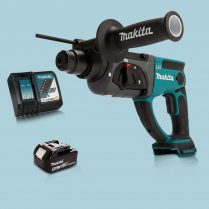 Toptopdeal Makita DHR202Z 18V LXT SDS+ Rotary Hammer Drill & 1 x 5 Ah Battery Charger