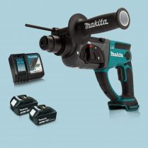 Toptopdeal Makita DHR202Z 18V LXT SDS+ Rotary Hammer Drill & 2 x 3.0Ah Battery Charger