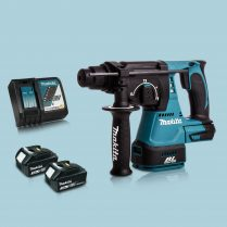 Toptopdeal Makita DHR242Z 18V SDS+ BL 24mm R.Hammer Drill & 2 x 3.0Ah Battery Charger