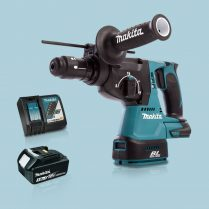 Toptopdeal-Makita-DHR243Z-18V-LXT-SDS+-BL-R-Hammer-Drill-&-1-x-3-0Ah-Battery-Charger