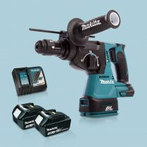 Toptopdeal-Makita-DHR243Z-18V-LXT-SDS+-BL-R-Hammer-Drill-&-2-x-3-0Ah-Battery-Charger